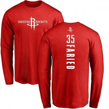 Youth Kenneth Faried Houston Rockets Red Backer Long Sleeve T-Shirt